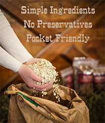 Simple ingredients, no preservatives, pocket friendly